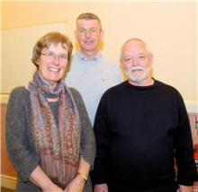 West Cornwall HealthWatch Marna and Jim with Bert Biscoe